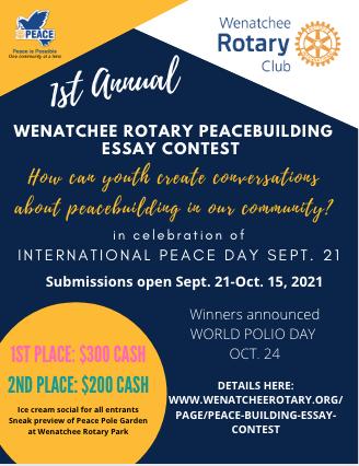 Rotary Peacebuilding Essay Contest 2021